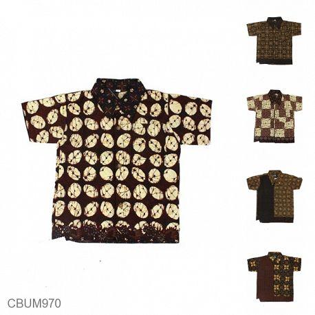 Kemeja Batik Anak Motif Capocino Tumpal Size S