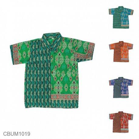 Kemeja Batik Anak Motif Songket Size L