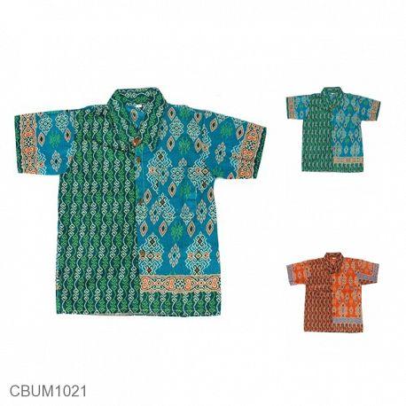 Kemeja Batik Anak Motif Songket Size XXL