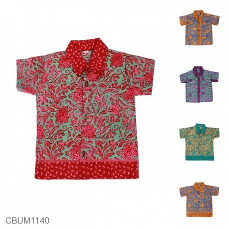 Kemeja Batik Anak Motif Bunga