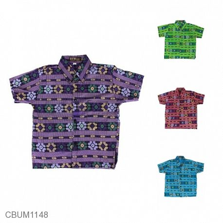 Kemeja Batik Anak Songket