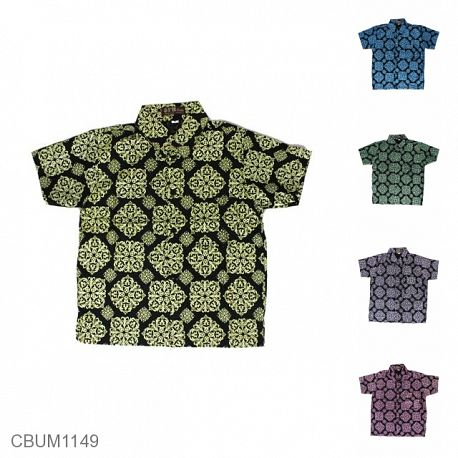 Kemeja Batik Anak Ukir