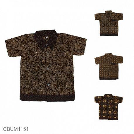 Kemeja Batik Anak Katun Capocino Size 0