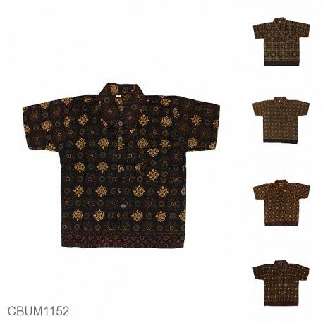 Kemeja Batik Anak Katun Capocino Size S