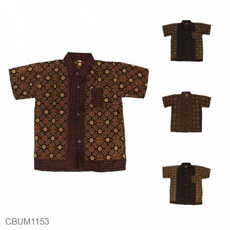 Kemeja Batik Anak Katun Capocino Size M