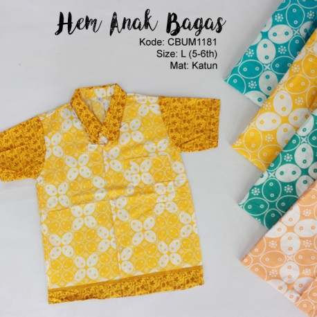 Kemeja Batik Anak Bagas