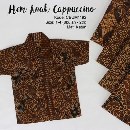 Kemeja Batik Anak Katun Capocino