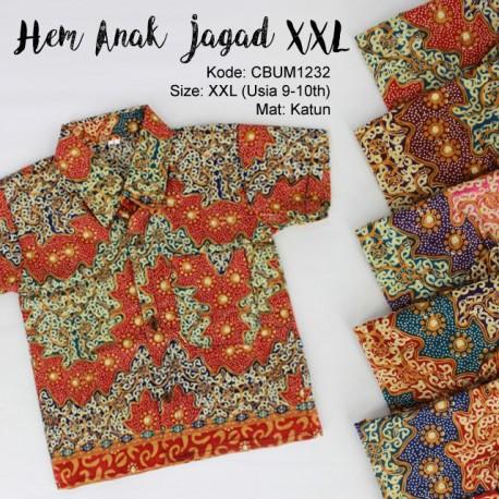 Kemeja Batik Anak Motif Jagad Size XXL
