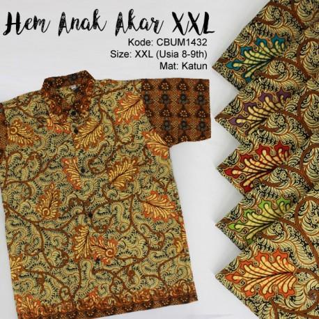 Kemeja Batik Anak Motif Akar Size XXL