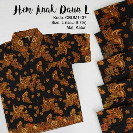 Kemeja Batik Anak Motif Daun Size L