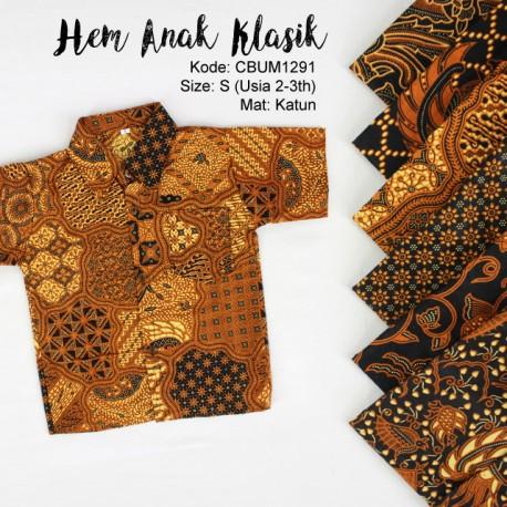 Kemeja Batik Anak Motif Klasik Size S
