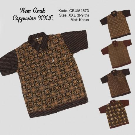 Kemeja Batik Anak Katun Capocino Size XXL