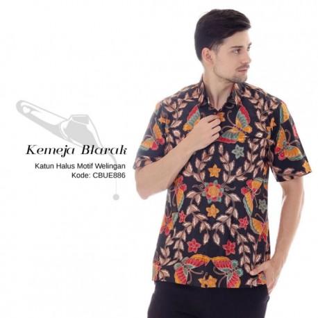 Kemeja Batik Blarak Motif Kupu