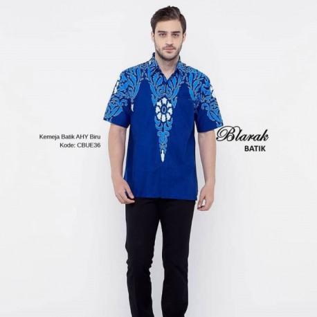 Kemeja Batik Blarak AHY Biru