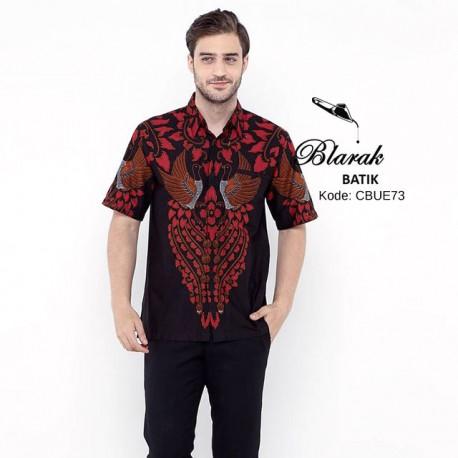 Kemeja Batik Blarak Pendek Motif AHY 2 Merah