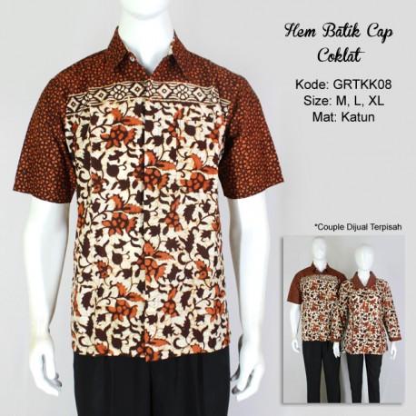 Kemeja Batik Cap Coklat Manis
