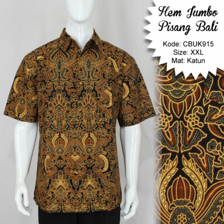 Kemeja Batik Jumbo Motif Pisang Bali