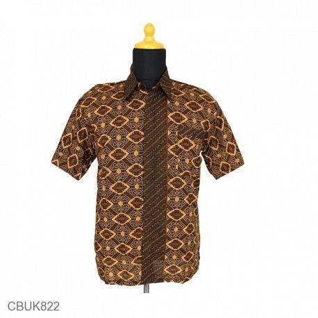 Kemeja Batik Katun Motif Capocino Tumpal