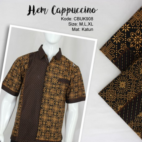 Kemeja Batik Katun Motif Cappoccino