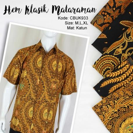 Kemeja Batik Katun Motif Mataraman