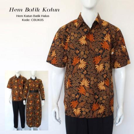 Kemeja Batik Katun Super Motif Palem Pakis