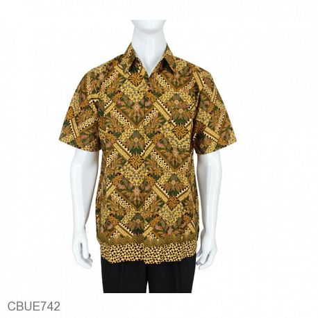 Kemeja Batik Madura Motif Abstrak Jokowi
