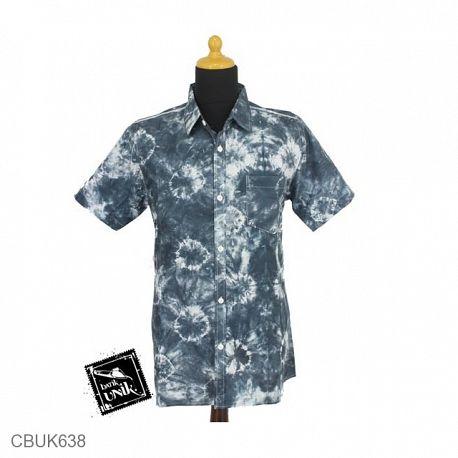 Kemeja Batik Motif Pelangi Bundel Celup