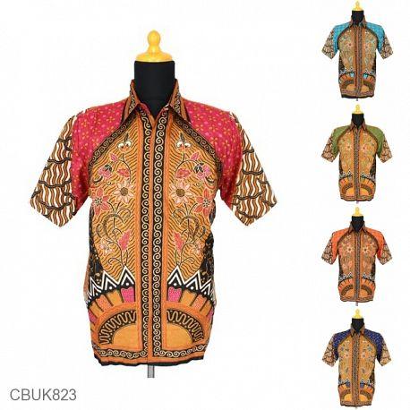 Kemeja Batik Motif Sinaran Kipas