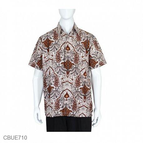 Kemeja Batik Baturaden Motif Sidomulyo Putih