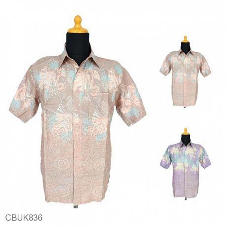 Kemeja Batik Motif Bunga Kipas