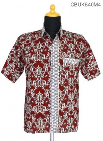 Kemeja Batik Motif Mahkota Ceplok