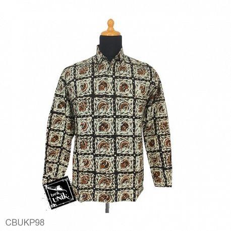 Kemeja Batik Panjang Motif Sogan Batangan