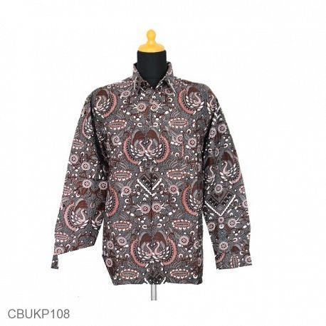 Kemeja Batik Panjang Katun Motif Garuda Angsa