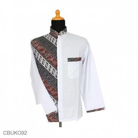 Kemeja Batik Panjang Motif Parang Kotemporer