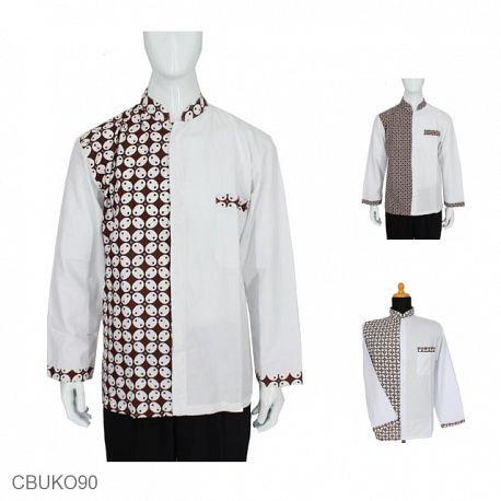 Kemeja Batik Panjang Motif Kawung Titik