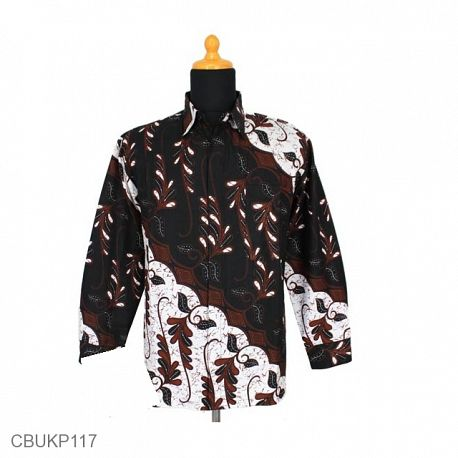 Kemeja Batik Panjang Solo Motif Parang Godhong