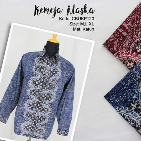 Kemeja Batik Panjang Motif Daun Sisik Alas