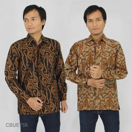 Kemeja Batik Panjang Baturaden Slim Fit Motif Klasik
