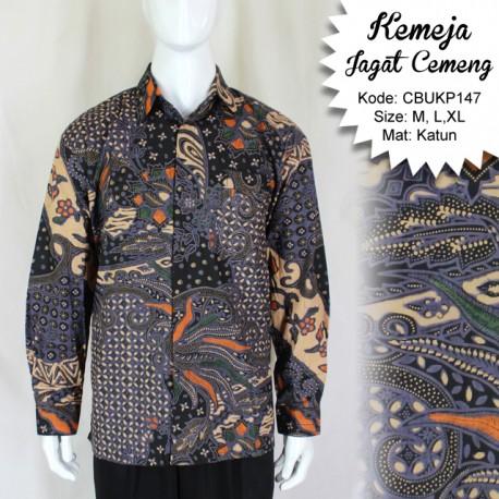Kemeja Batik Panjang Katun Motif Jagad