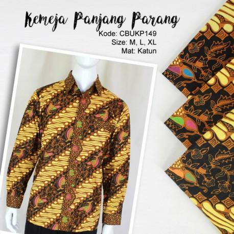 Kemeja Batik Panjang Motif Parang