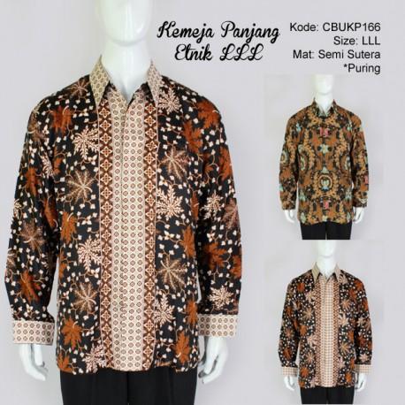 Kemeja Batik Panjang Semi Sutera Etnik LLL