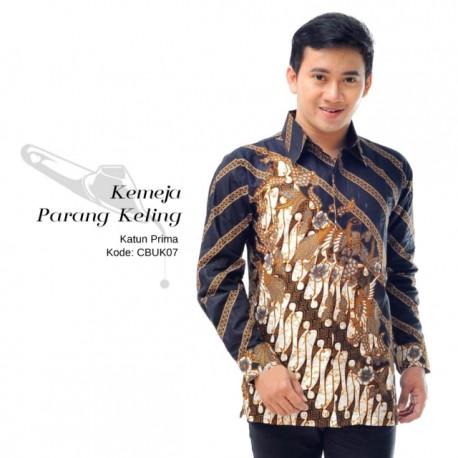 Kemeja Batik Panjang Motif Parang Keling