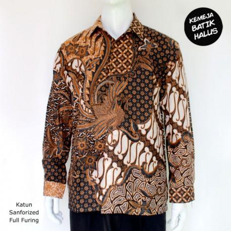 Kemeja Batik Panjang Furing Halus Peksi Dwipo Coklat