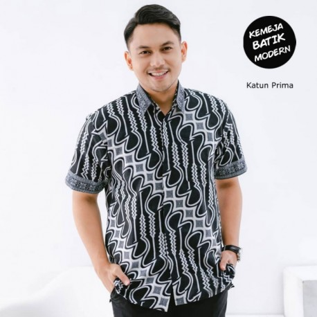 Kemeja Batik Parang Monocrome