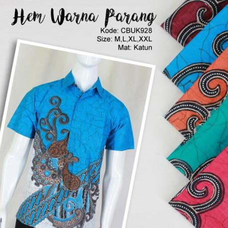 Kemeja Batik Pekalongan Motif Parang Warna