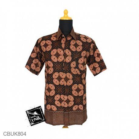 Kemeja Batik Pendek Motif Mocacino