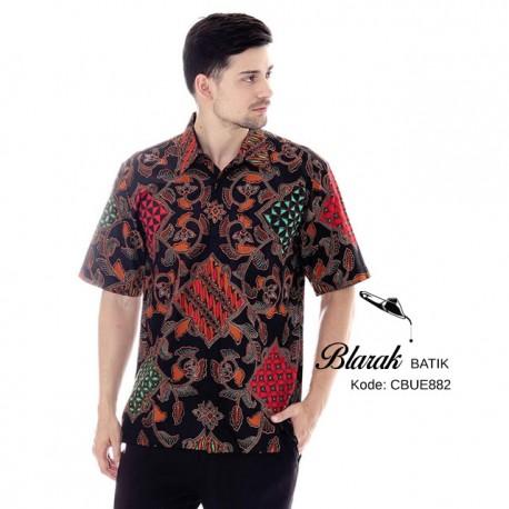 Kemeja Batik Pendek Blarak 9122