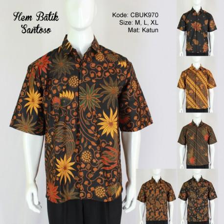 Kemeja Batik Pendek Santoso Klasik