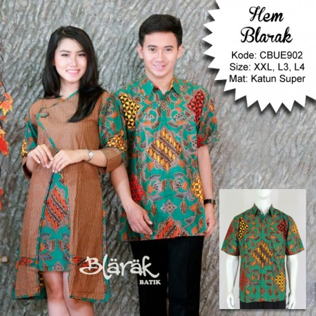 Kemeja Batik Pendek Jumbo Blarak 9122