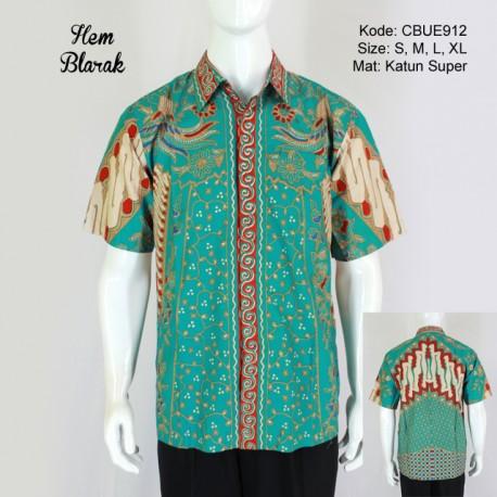 Kemeja Batik Pendek Blarak 9109